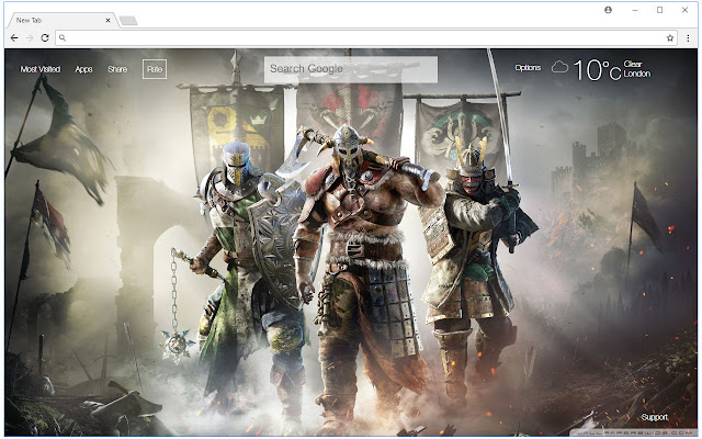 For Honor Wallpapers HD New Tab Themes