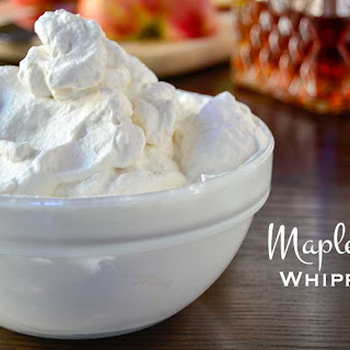 Maple Bourbon Whipped Cream.