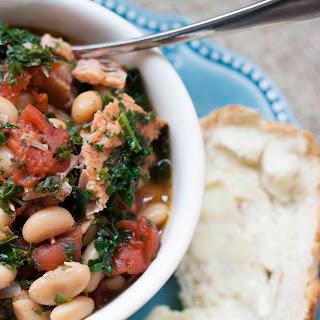 Slow-Cooker Spanish Style Pork & Beans.