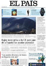 Photo: Rajoy mete prisa a la UE para que dé a España las ayudas pactadas; entrevista al ministro de Hacienda alemán y las huellas del fuego dan paso a la desolación en Valencia, en la portada de la edición nacional del domingo 8 de julio de 2012 http://srv00.epimg.net/pdf/elpais/1aPagina/2012/07/ep-20120708.pdf