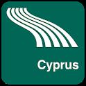 Cyprus Map offline icon