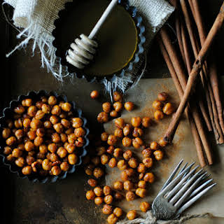 Cinnamon and Honey Roasted Chickpeas.