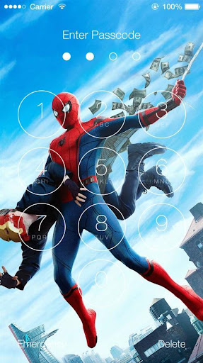 Spider-Man Home Coming Lock Screen for PC