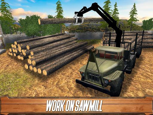 Sawmill Driver: Logging Truck & Forest Harvester  screenshots 5