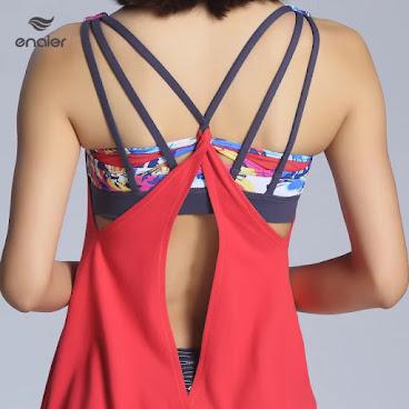 2016夏季新款後背吊帶交叉女士性感兩件套 瑜伽服運動上衣