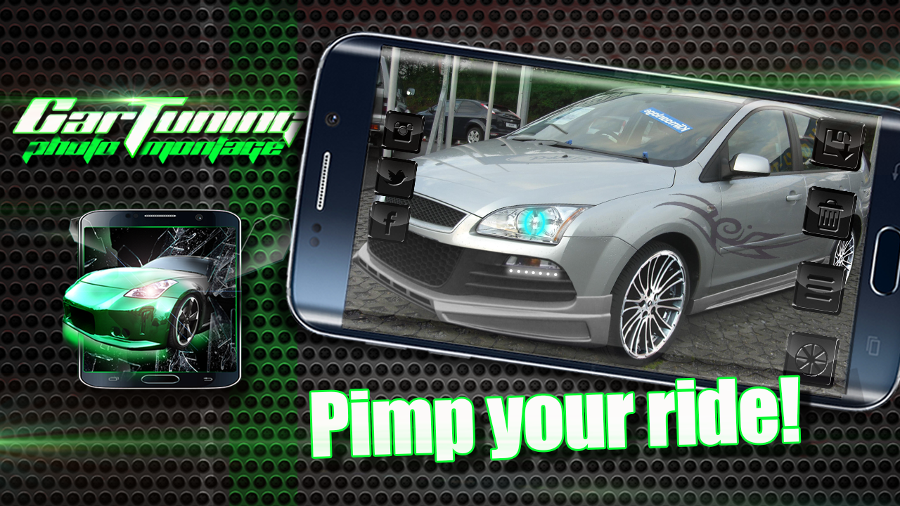 Car sticker maker app - Car Tuning Photo Montage Screenshot
