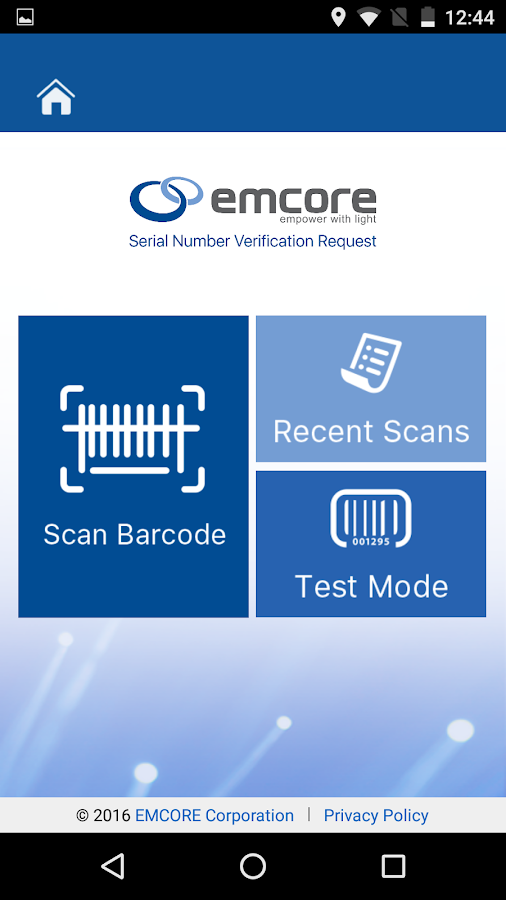 EMCORE Customer Portal App- screenshot