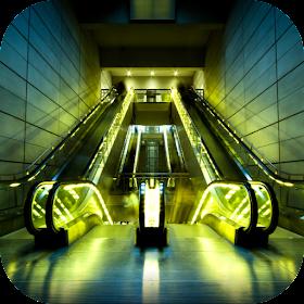Escalator. Hot Wallpapers