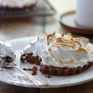 Brownie Tart with Whiskey Meringue