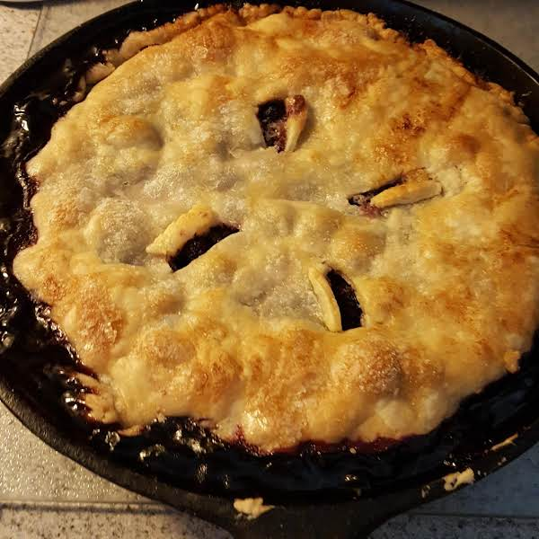 Triple Berry Skillet Pie Recipe