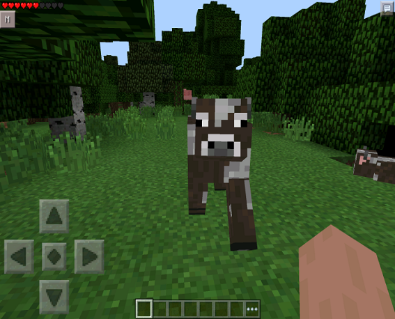 how to eat food in minecraft pe