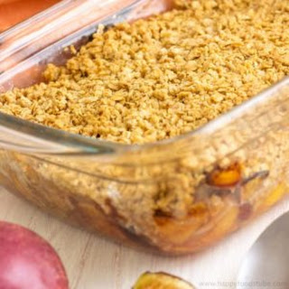 No Fuss Mixed Fruit Crisp with Hazelnuts