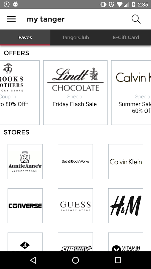 coach coupons outlet 3t15  Tanger Outlets- screenshot
