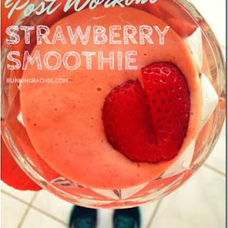 Post Workout Strawberry Banana Protein Smoothie.