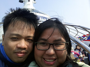 Photo: During the 10-minute boat ride going to Nami Island.