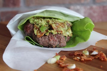 Green Onion Burgers With Bacon And Avocado Butter Recipe