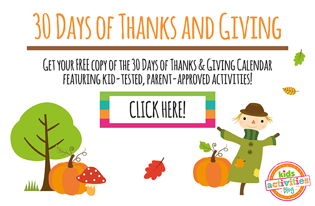 30 Days of Thanks and Giving Calendar