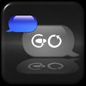 Blue Metal Theme for GO SMS icon