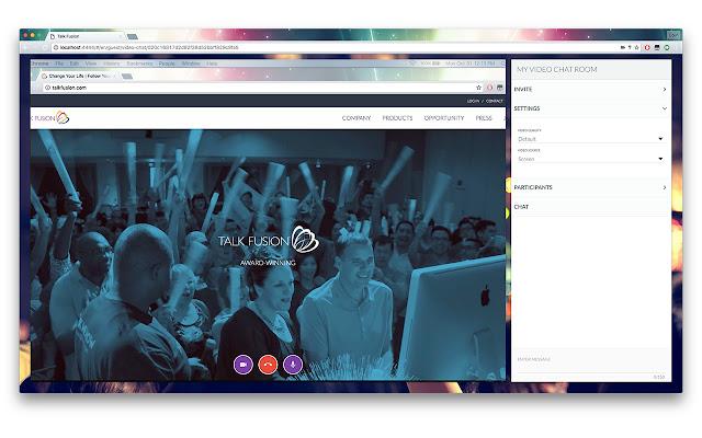 Talk Fusion WebRTC Screen Capture