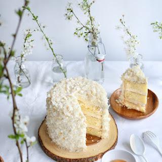 White Chocolate Coconut Cake + 2 Years Of Blogging