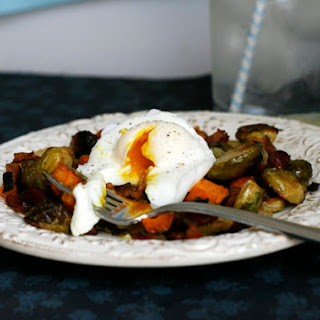 Sweet Potato, Brussels Sprouts and Bacon Hash Recipe