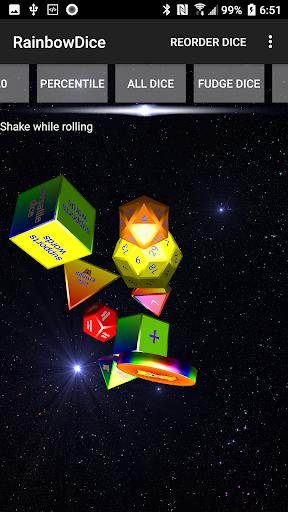 Dice Roller 3D: Rainbow Dice screenshots 1