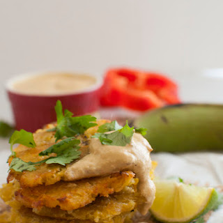 Tostones with Red Pepper Dip