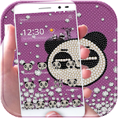 Diamond Panda Theme Bling Love