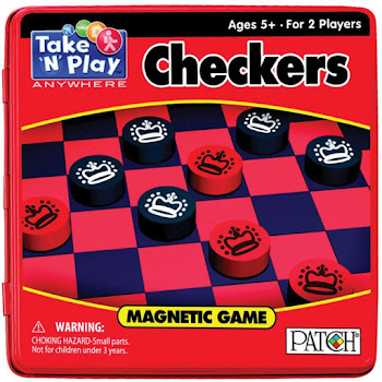 Take 'N' Play Checkers Magnetic Game