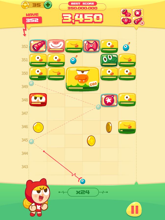 MOMO STRIKE - Endless Block Breaking Game!- screenshot