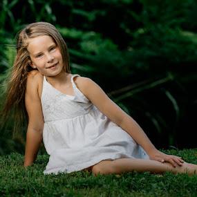 My little girl by Andy Snider - Babies & Children Child Portraits ( little girl, girl, park, family, summer, cute, portraits, portrait )