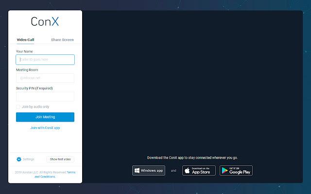 ConX WebRTC Screen Sharing