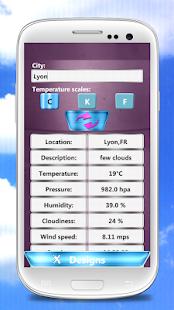 Přesné Počasí Widget - náhled