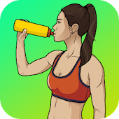 Female Workout at home - lose fat& Calorie scanner Icon