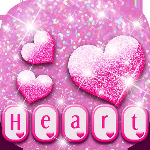 Sparkling Heart Keyboard Theme Icon