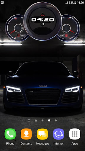 Sports Cars Wallpaper - Digital Clock for PC