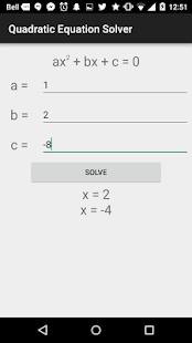 Quadratic Equation Solver for pc