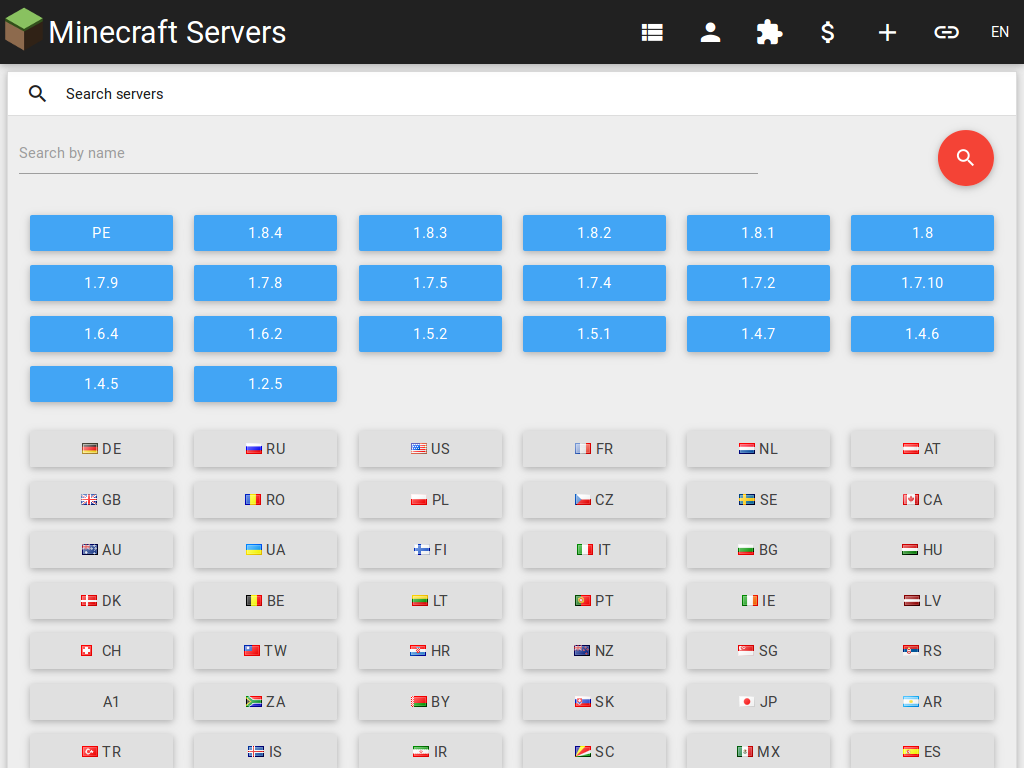 Servers for Minecraft- screenshot