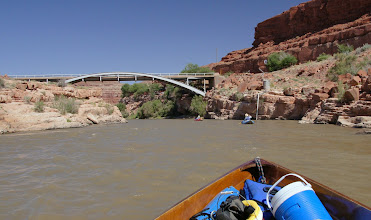 Photo: Approaching Mexican Hat Bridge - US 163