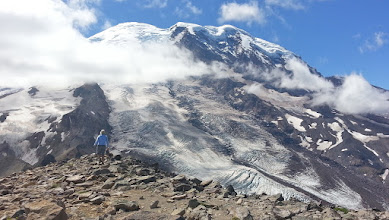 Photo: Burroughs #3 and Winthrop Glacier