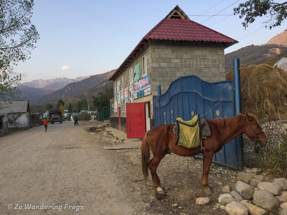 Kyrgyzstan Trekking: Guide to Sary-Chelek in the Tian Shan Mountains // Sary-Chelek Main Street, Shopping Store, and Transportation