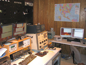 Photo: 80-10m CW & SSB HF station (left) - 80-10m SSB only station (right), though that sat on 40m all weekend