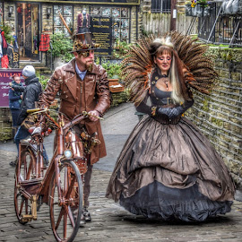by Betty Taylor - People Street & Candids ( steampunk, candid, dressing up, street photography )