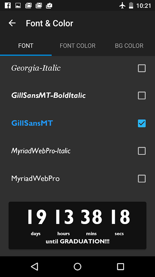 Countdown Widget- screenshot