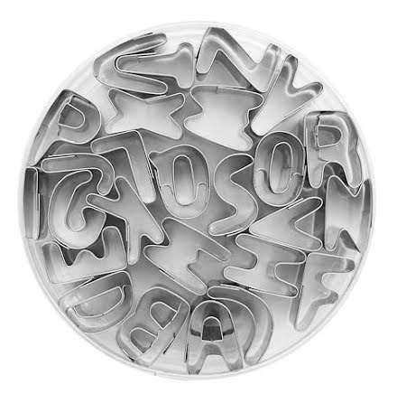 Kakformar - Bokstäver A -Z, 2,5 cm