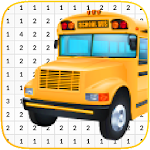 Bus Coloring Book - Color By Number icon