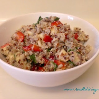Rainbow Quinoa with Apple, Cranberries and Mint