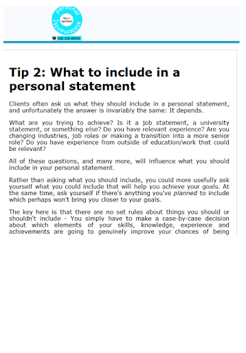 Top personal statement tips