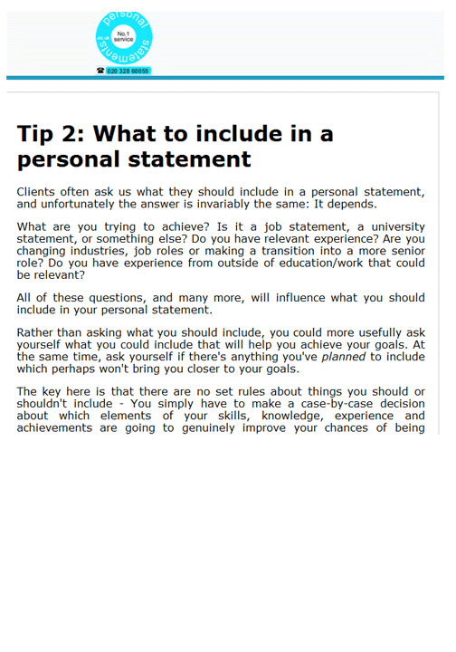 personal interview     The UC Statement Prompts