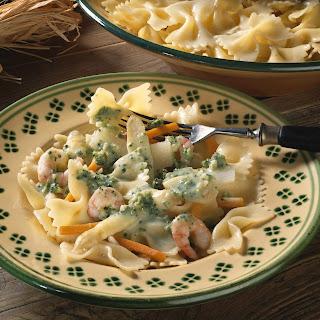 Pasta mit Spargel und Krabben